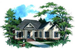 Ranch House Plan Front Image - 024D-0016 | House Plans and More