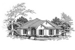 Greek Revival House Plan Front Image of House - 024D-0018 | House Plans and More