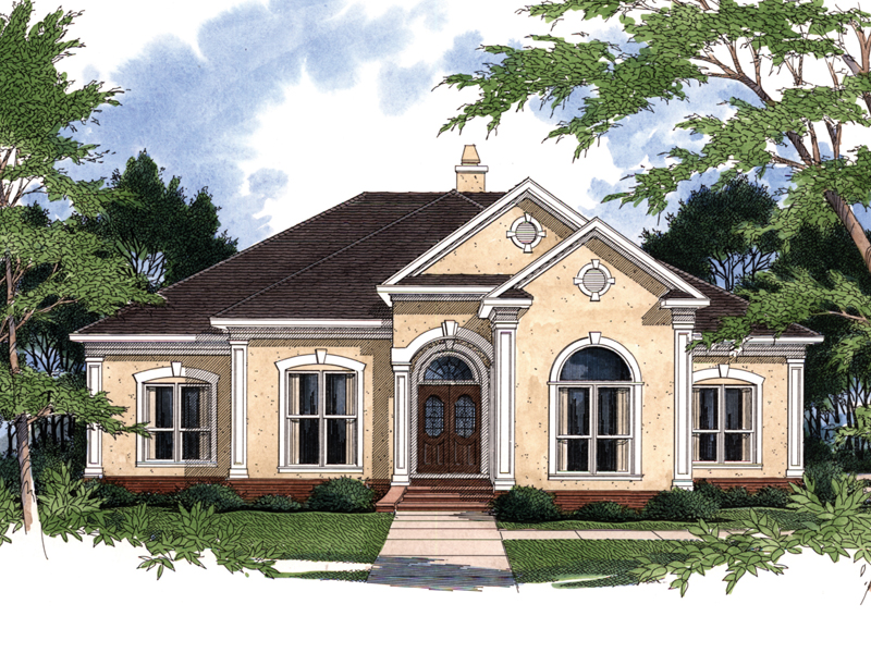 Country French Home Plan Front Photo 01 - 024D-0024 | House Plans and More