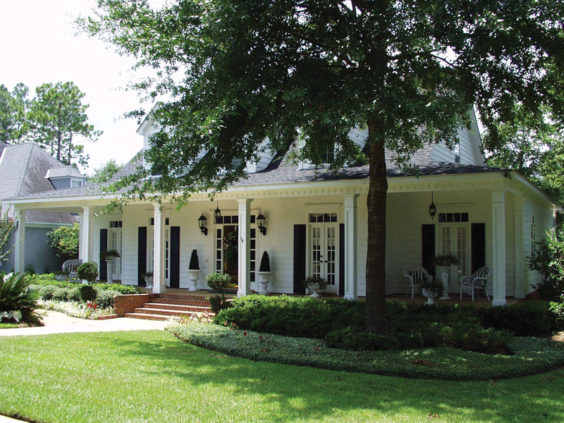 Southern Acadian Home With Wide Front Porch