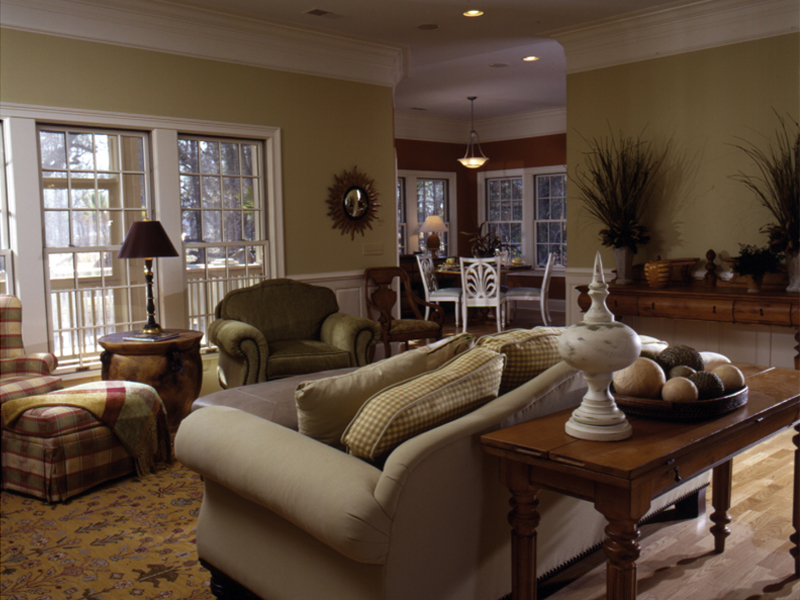 Country French Home Plan Living Room Photo 01 024D-0048