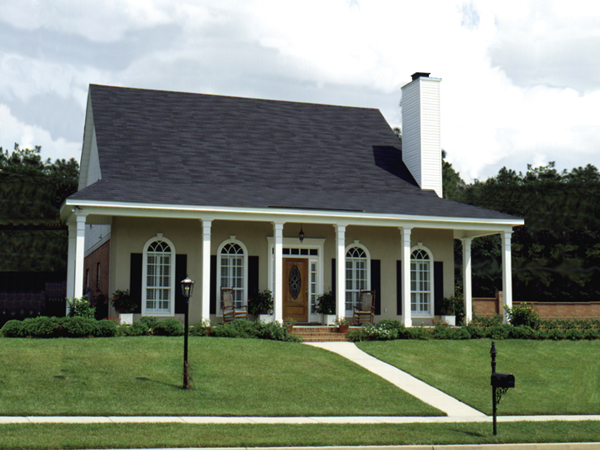 Acadian Style House Plans with Porches