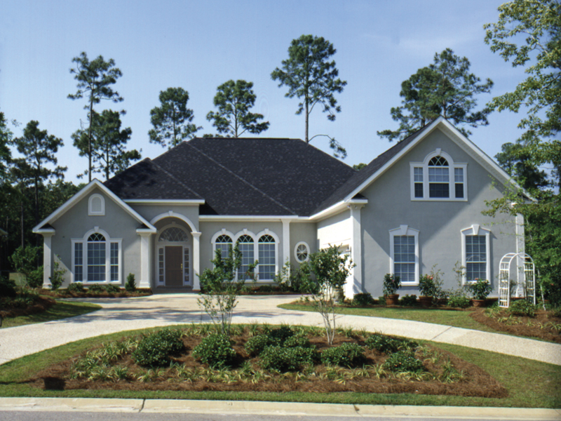 Traditional House Plan Front of Home 024D-0054