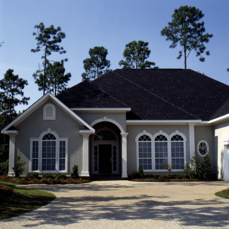European House Plan Front Photo 02 024D-0054