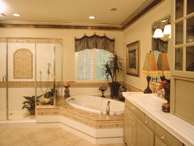Ranch House Plan Master Bathroom Photo 02 024D-0055