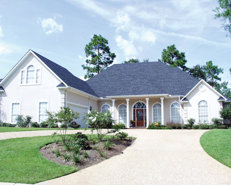 Greek Revival Home Plan Front of Home 024D-0057