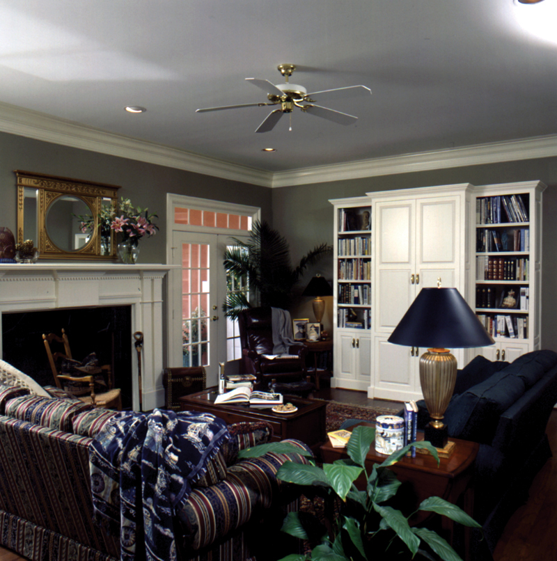Greek Revival Home Plan Family Room Photo 01 024D-0058