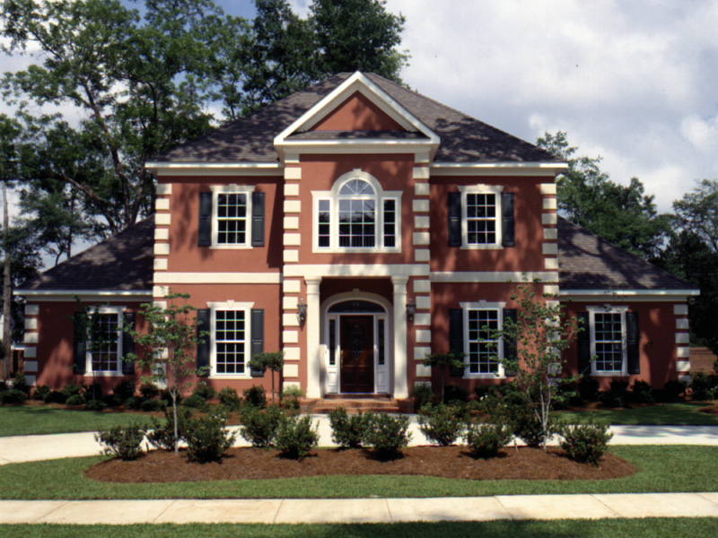 Colonial House Plan Front of Home 024D-0058