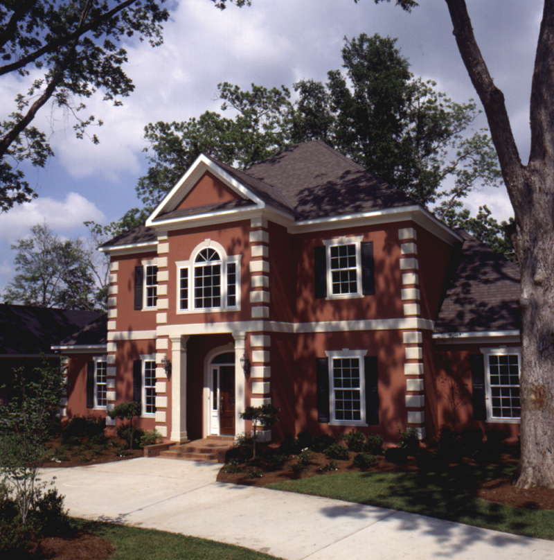 Colonial House Plans: Whitemire Luxury Colonial Home Plan 024D-0058