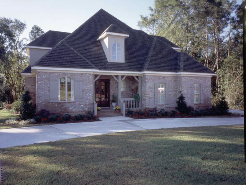 Country French Home Plan Front of Home 024D-0060