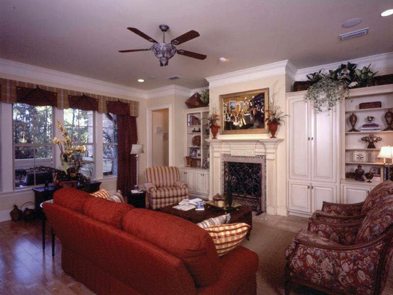 Country French Home Plan Living Room Photo 02 024D-0060