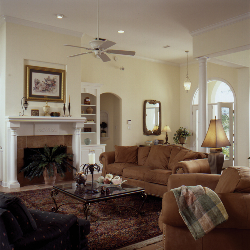 Lowcountry Home Plan Fireplace Photo 03 024D-0061