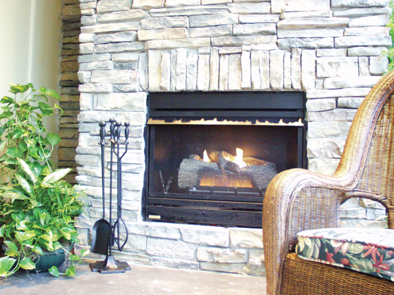 European House Plan Fireplace Photo 02 024D-0062