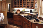 Country French Home Plan Kitchen Photo 01 - 024D-0062 | House Plans and More