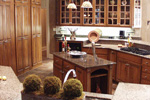 Country French Home Plan Kitchen Photo 08 024D-0062