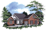 Favorable Ranch Home With Triple Gabled Roofline