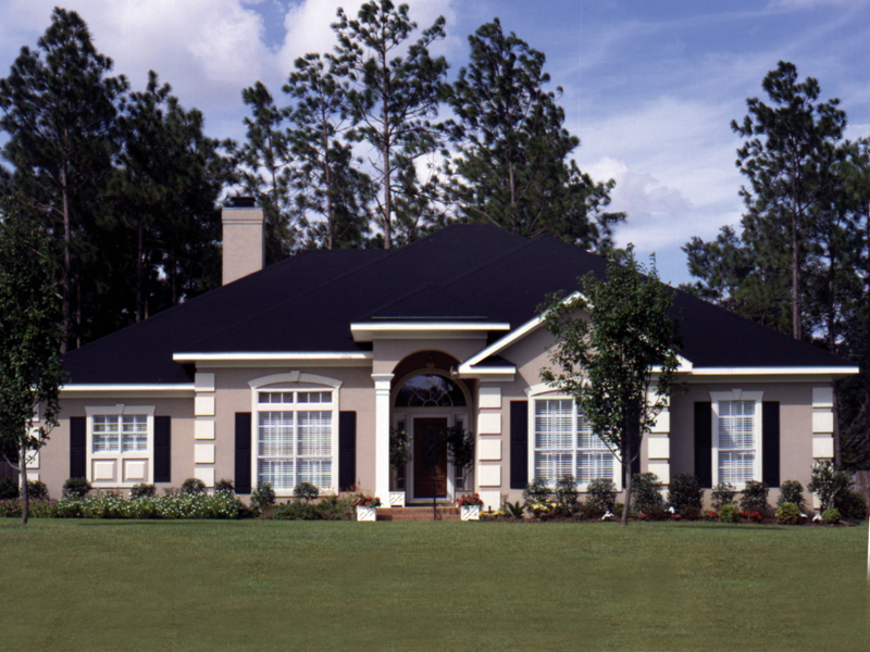 Traditional House Plan Front of Home 024D-0065