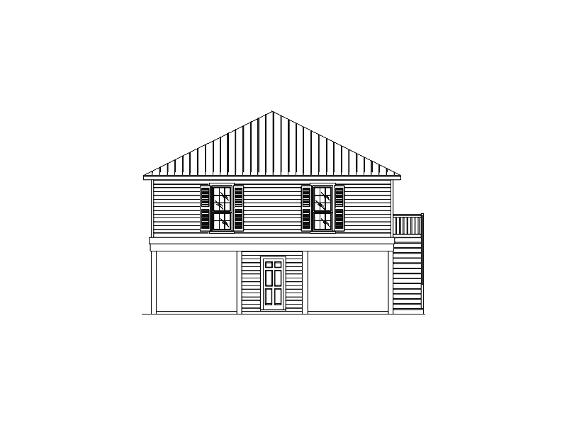 Waterfront House Plan Front of Home - 024D-0092 | House Plans and More