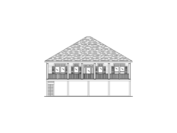 Blythewood Raised Beach Home Plan 024D 0093 House Plans