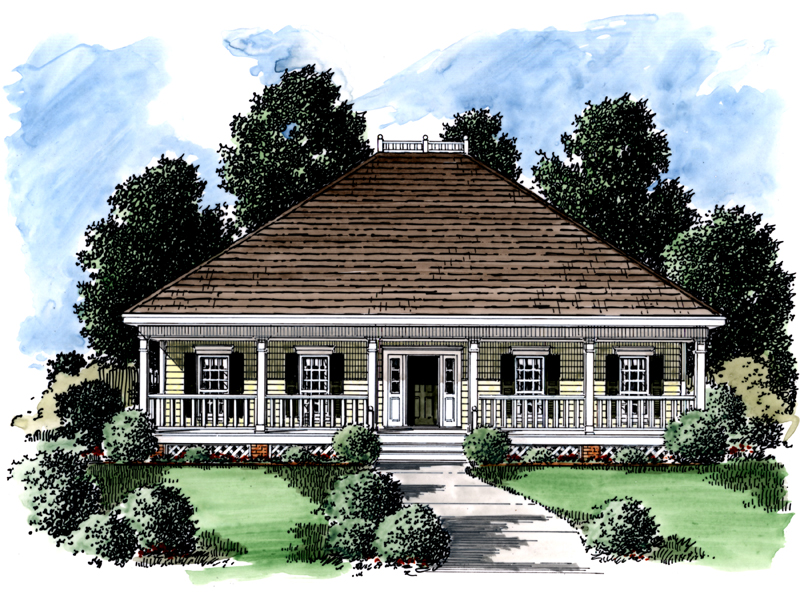 Southern House Plan Front of Home - 024D-0170 | House Plans and More