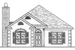 Ranch House Plan Front of Home - 024D-0199 | House Plans and More