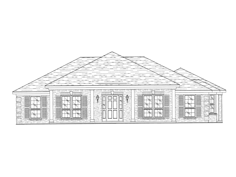 Ranch House Plan Front of Home - 024D-0208 | House Plans and More