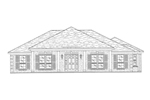 Traditional House Plan Front of Home - 024D-0208 | House Plans and More