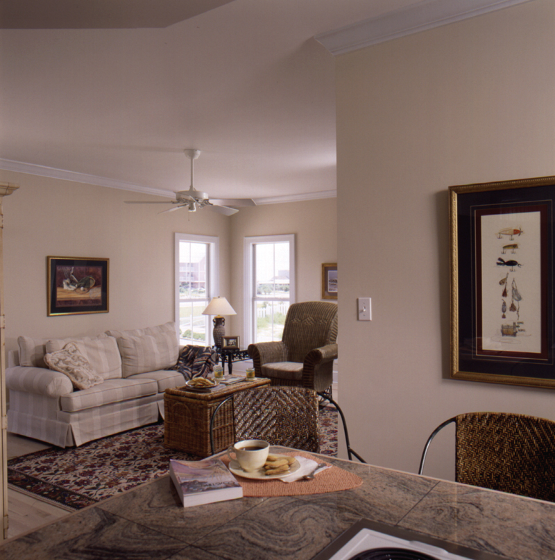 Colonial House Plan Living Room Photo 02 024D-0241