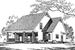 Country Style Home Has Old-Fashioned Saltbox Style