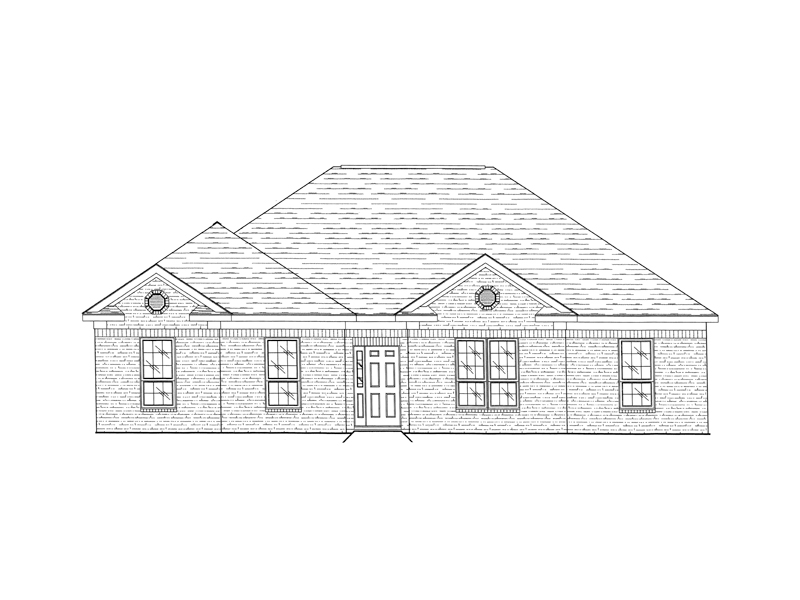 Traditional Brick Ranch Topped With A Hip Roof Design