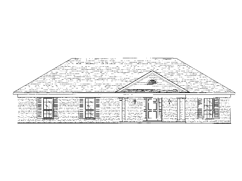 Traditional Brick Ranch With Covered Gabled Front Porch