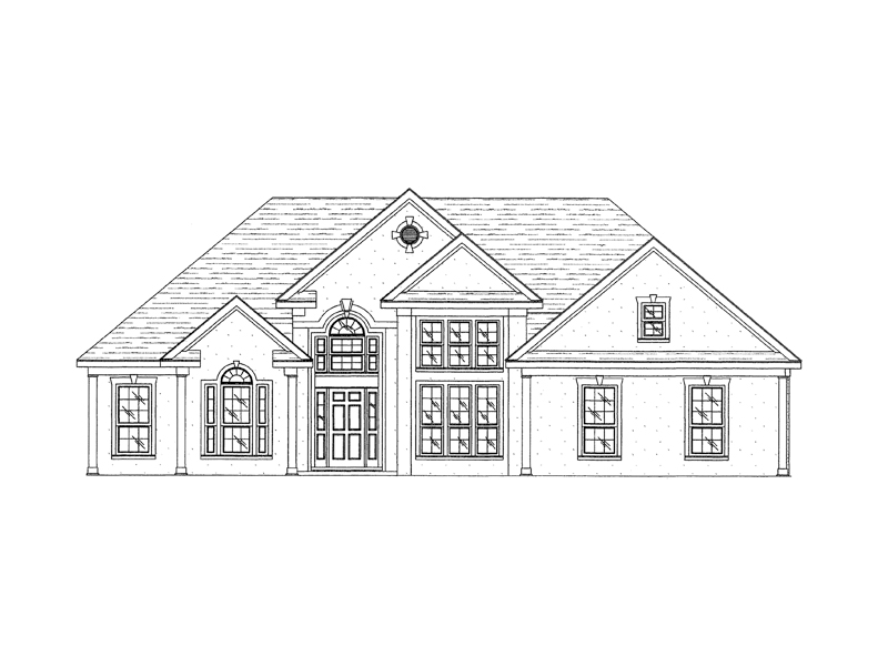 Elegant Stucco Ranch With Great Curb Appeal