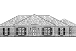 Traditional Brick Ranch Has Symmetrical Front Exterior