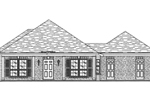 Ranch House Has Brick Exterior And Covered Front Porch