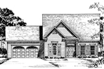 Traditional Home Has A Double Gable Across the Front For Added Style