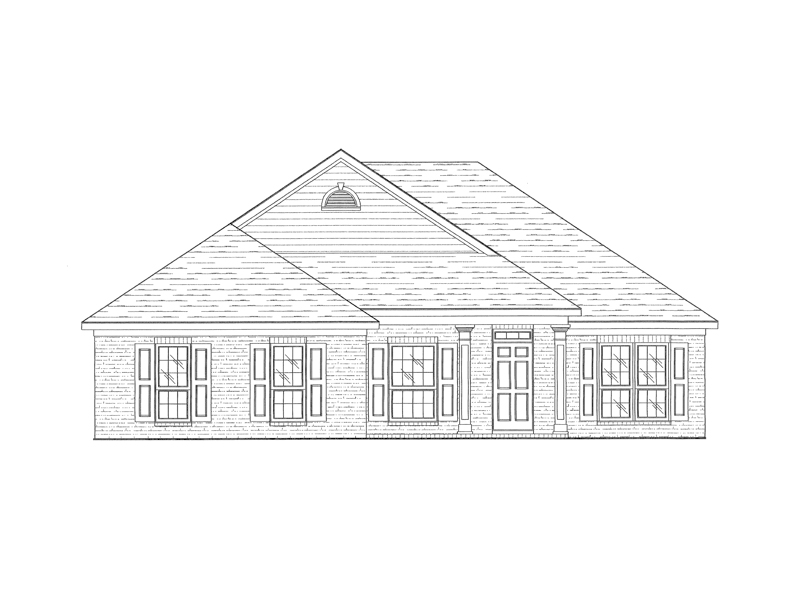 Ranch House Plan Front of Home - 024D-0317 | House Plans and More
