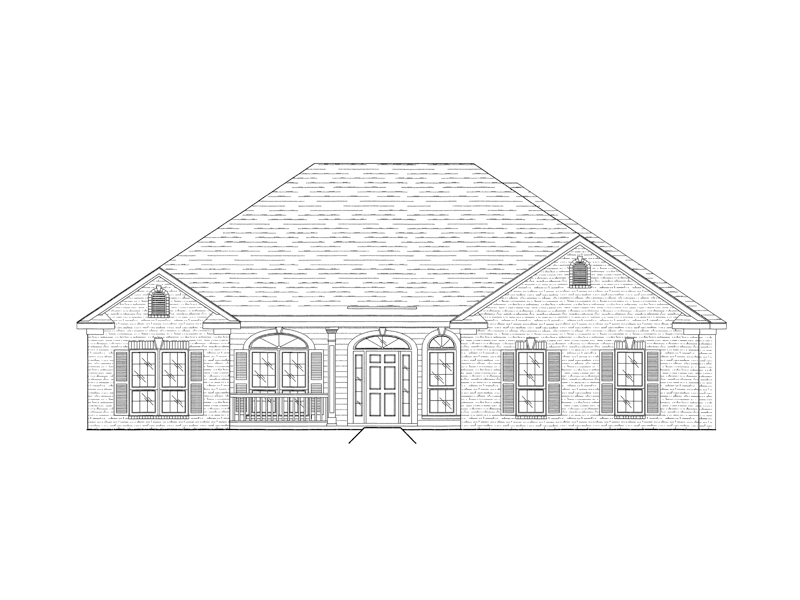 Traditional Ranch With Arched Windows And Front Door