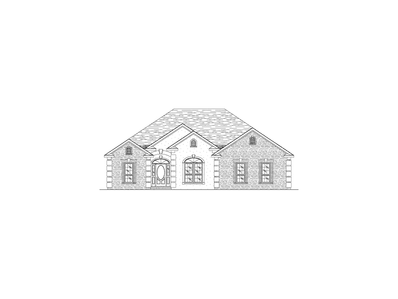 Ranch House Plan Front of Home - 024D-0380 | House Plans and More