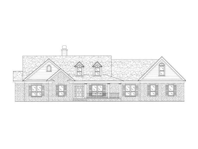 Sprawling Brick Accented House Has Casual Country Quality