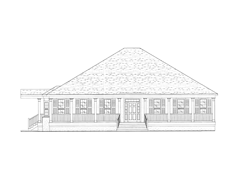 Lowcountry Style Home Has Slightly Raised Appearance And Covered Porch