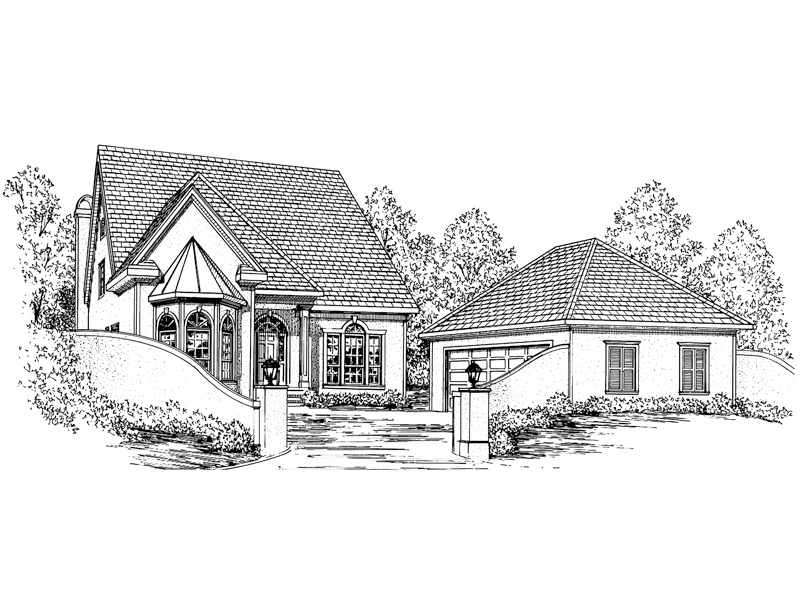 Traditional House Plan Front of Home - 024D-0469 | House Plans and More