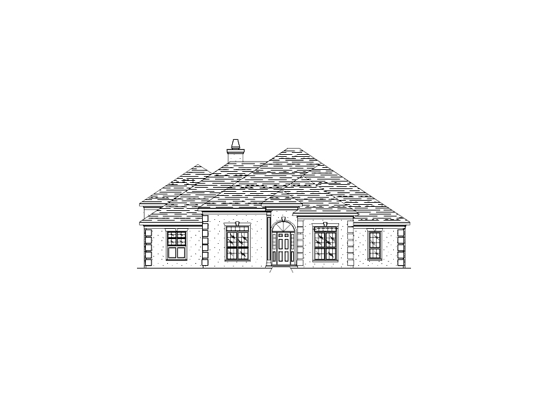 Stucco Home Has Stylish Roof Line And Corner Quoins