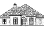European Style Stucco Home With Unique Roof Line