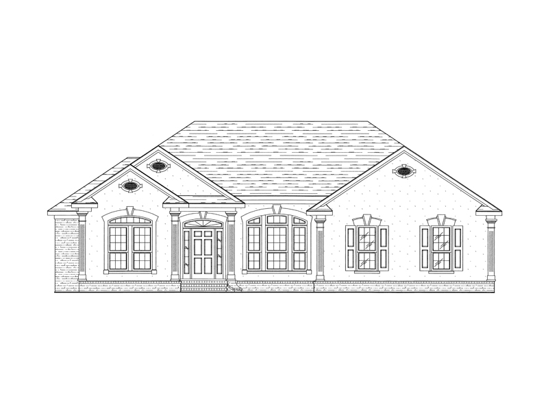 European House Plan Front of Home - 024D-0496 | House Plans and More