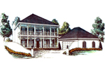 Stunning Southern Plantation Style Home Has Two Levels Of Covered Porches