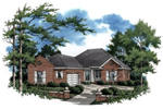 All Brick Ranch Home With Side Entry Garage