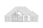 Ranch House Plan Front of Home - 024D-0530 | House Plans and More