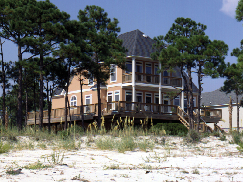 Beach and Coastal House Plan Front of Home 024D-0556