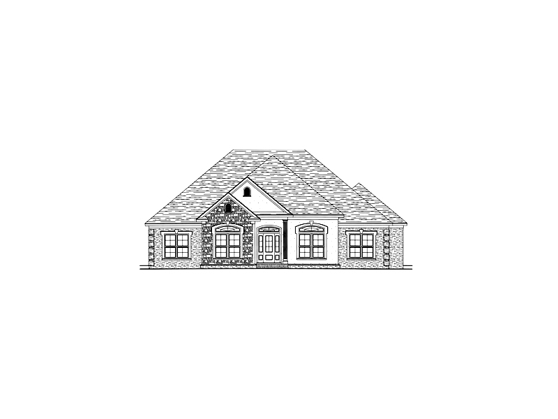 Ranch House Plan Front of Home - 024D-0565 | House Plans and More