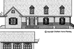 Country Ranch House Has Matching Detached Garage Plan